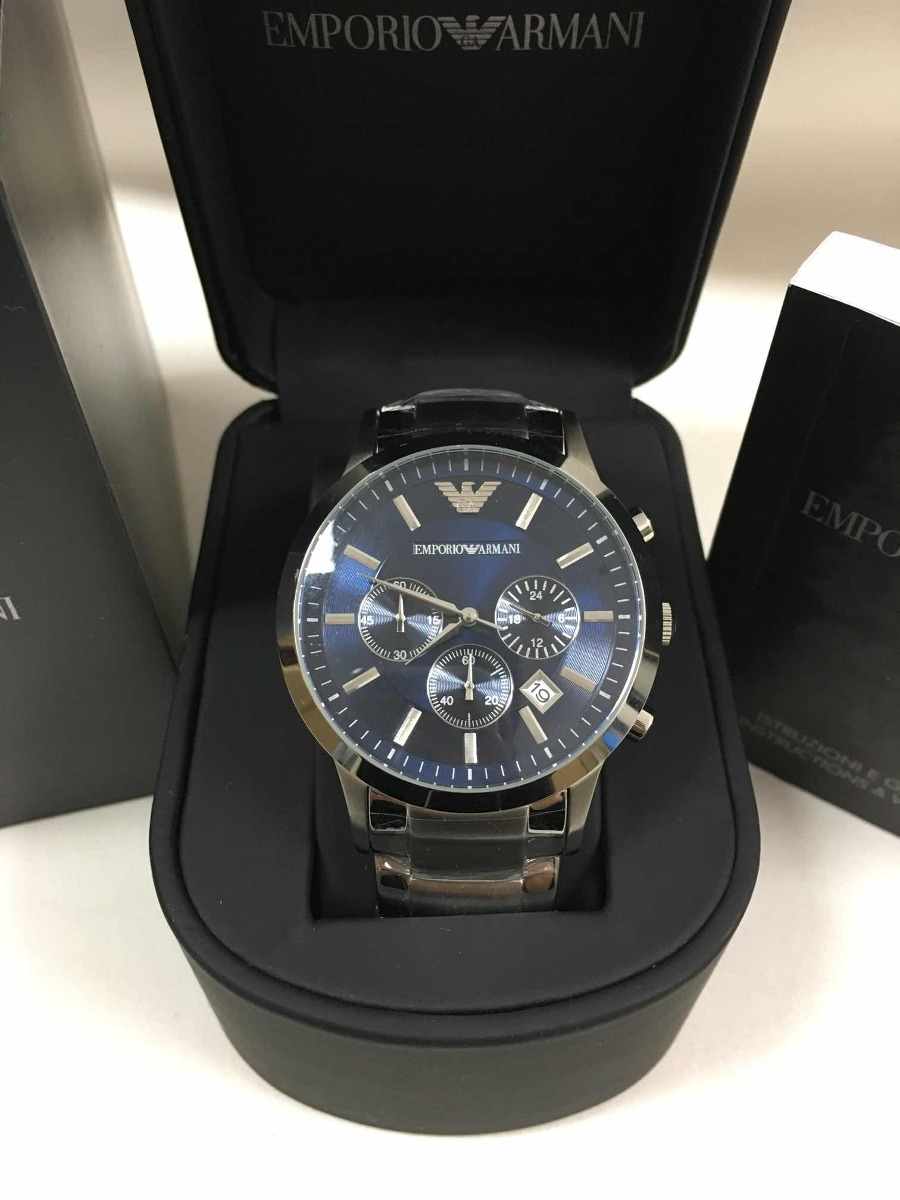 fe6a2d1a137 relógio emporio armani ar2448 com caixa manual e garantia. Carregando zoom.