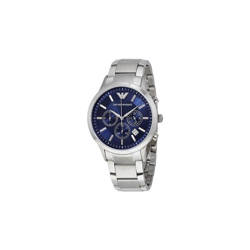 907d766b14d relógio empório armani ar2448 prata azul. Carregando zoom.