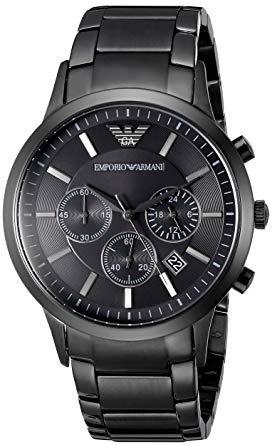 ac8029ce196 relógio empório armani ar2453 original eua black cronógrafo · relógio  empório armani. Carregando zoom.