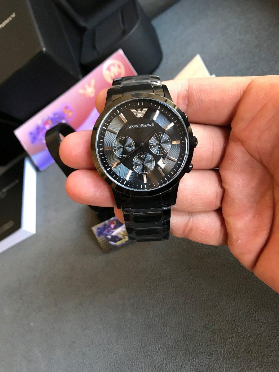 e96c3c7dfe3 relógio emporio armani ar2453 preto original completo caixa. Carregando zoom .
