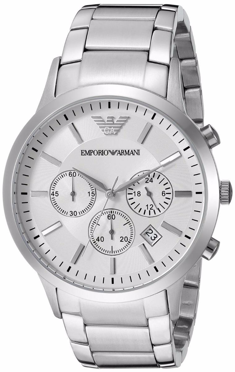 fb64112389d relógio emporio armani ar2458 prata caixa original em oferta. Carregando  zoom.
