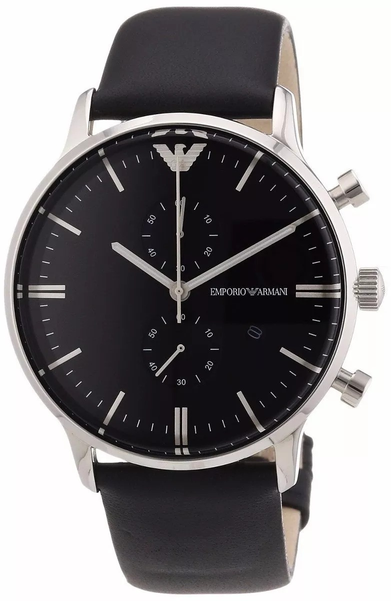 6a6c930df29 Relógio Emporio Armani Ar2461 Original Couro Preto Original - R  328 ...
