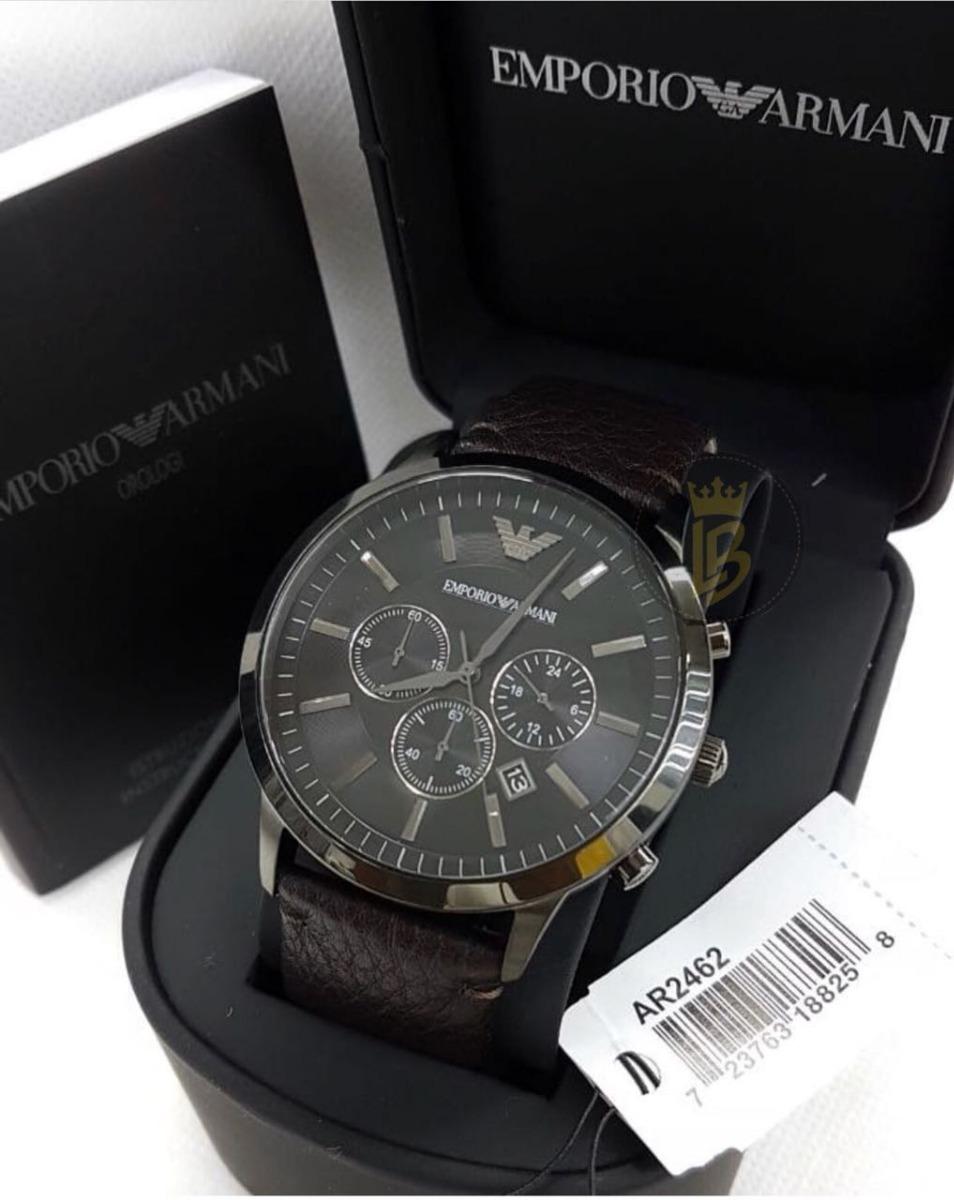 03f22cd49 relógio empório armani ar2462 couro marrom com garantia. Carregando zoom.