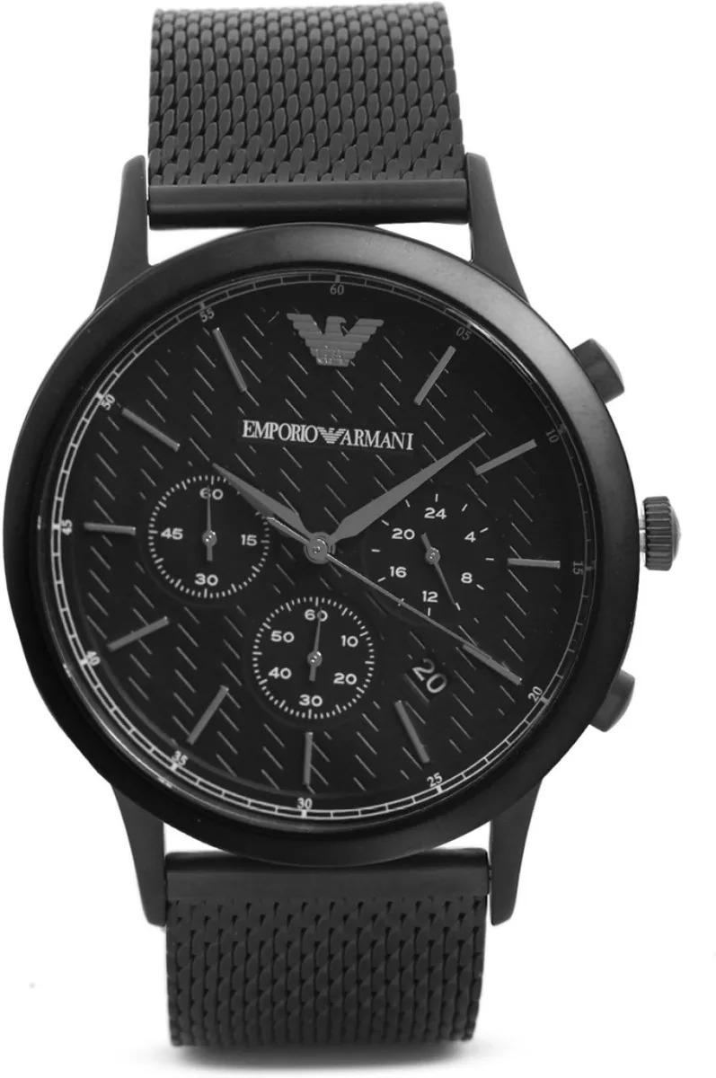 9789c1f5db4 Relógio Empório Armani Ar2498 Preto Aço Automático - R  419