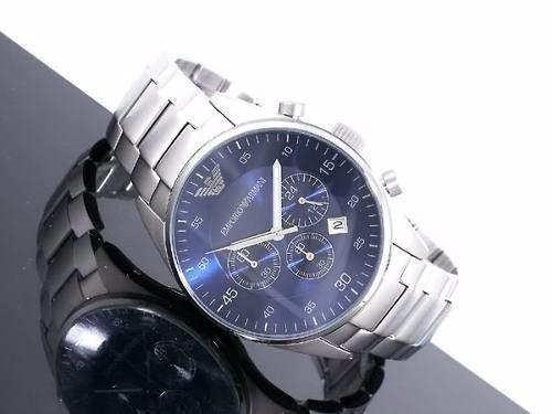relógio emporio armani ar5860 azul original garantia lindo +