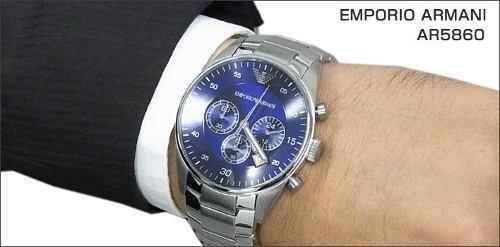 relógio empório armani ar5860 casual original g47