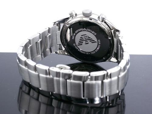 relógio emporio armani ar5860 masculino prata azul com caixa