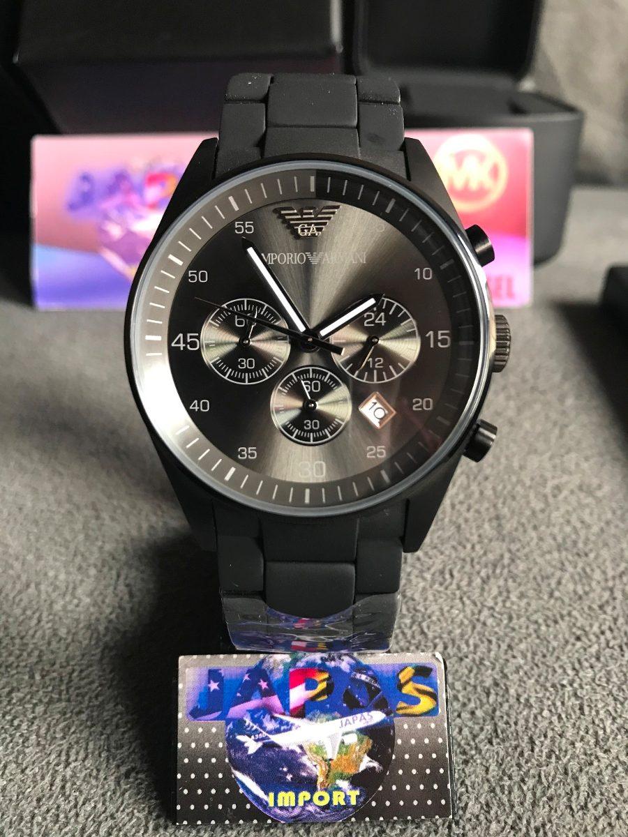 relógio emporio armani ar5889 black original completo caixa. Carregando  zoom. 4852b94596