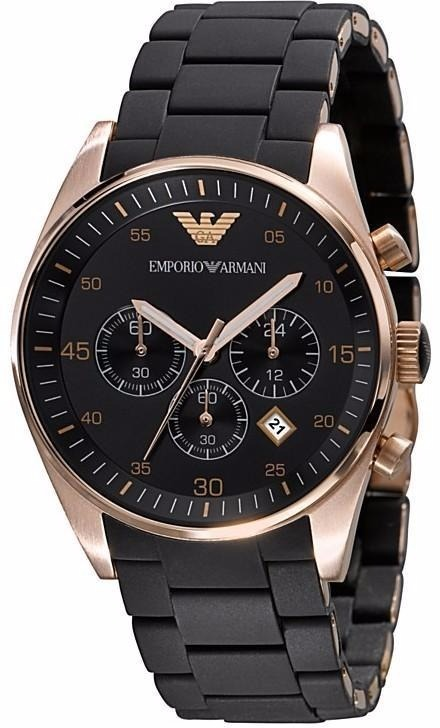 8d332fde479 Relógio Emporio Armani Ar5905 Masculino Original Preto Rose. - R ...