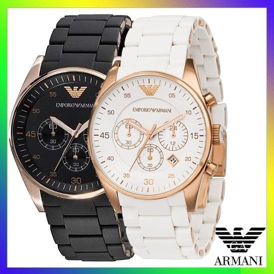 d9097a03d19 Relógio Emporio Armani Ar5905 Preto Ar5919 Branco C  Caixa ! - R  464