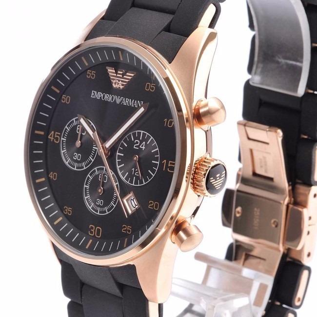 5ca3552ebd7 Relógio Emporio Armani Ar5905 Preto Rose Original Mbs11 - R  270