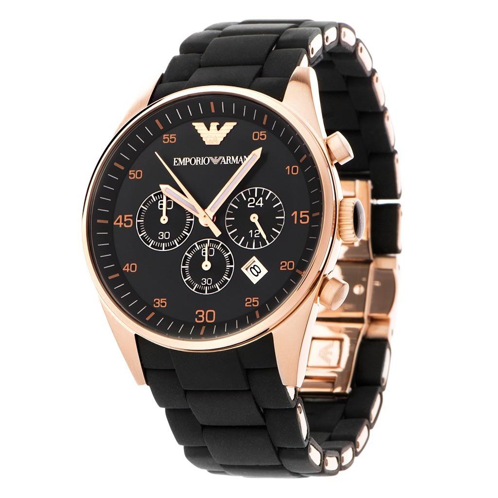 6e8d81b19b633 relógio emporio armani ar5905 preto rose original na caixa. Carregando zoom.