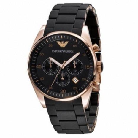 Relógio Emporio Armani Ar5905 Preto Rose Unissex Mega Luxo - R  299 ... 8c9c3a2ef4