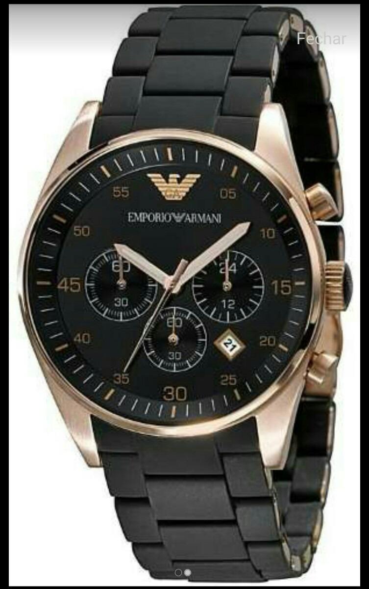eb71590a5 relógio emporio armani ar5905 preto com garantia - origin. Carregando zoom.
