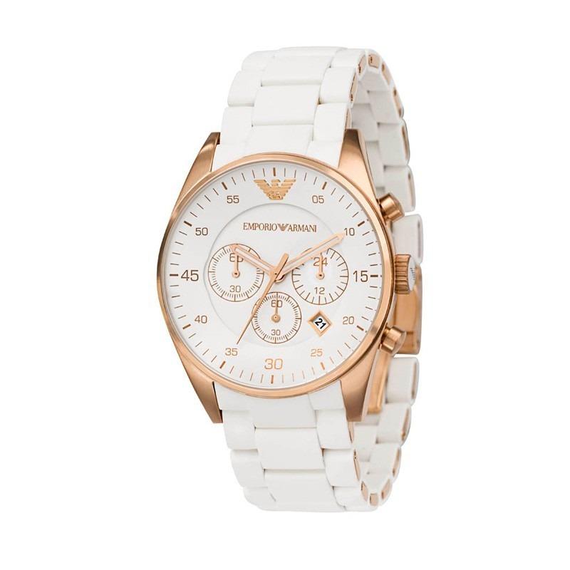 ae3bf3f9aaa relógio emporio armani ar5919 branco rose com caixa original. Carregando  zoom.