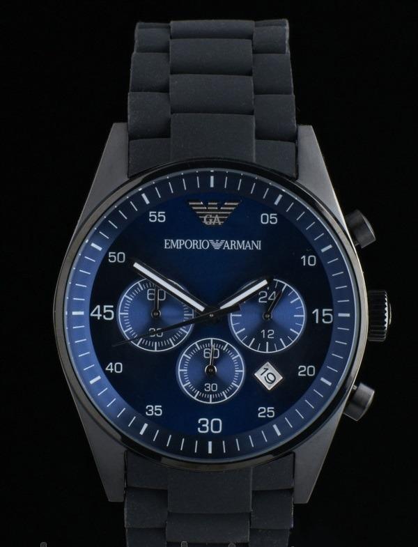 fcbb2879f2d Relógio Emporio Armani Ar5921 Preto Azul Original Garantia. - R  372 ...