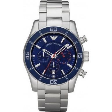 relógio empório armani ar5933 azul original eua cronografo