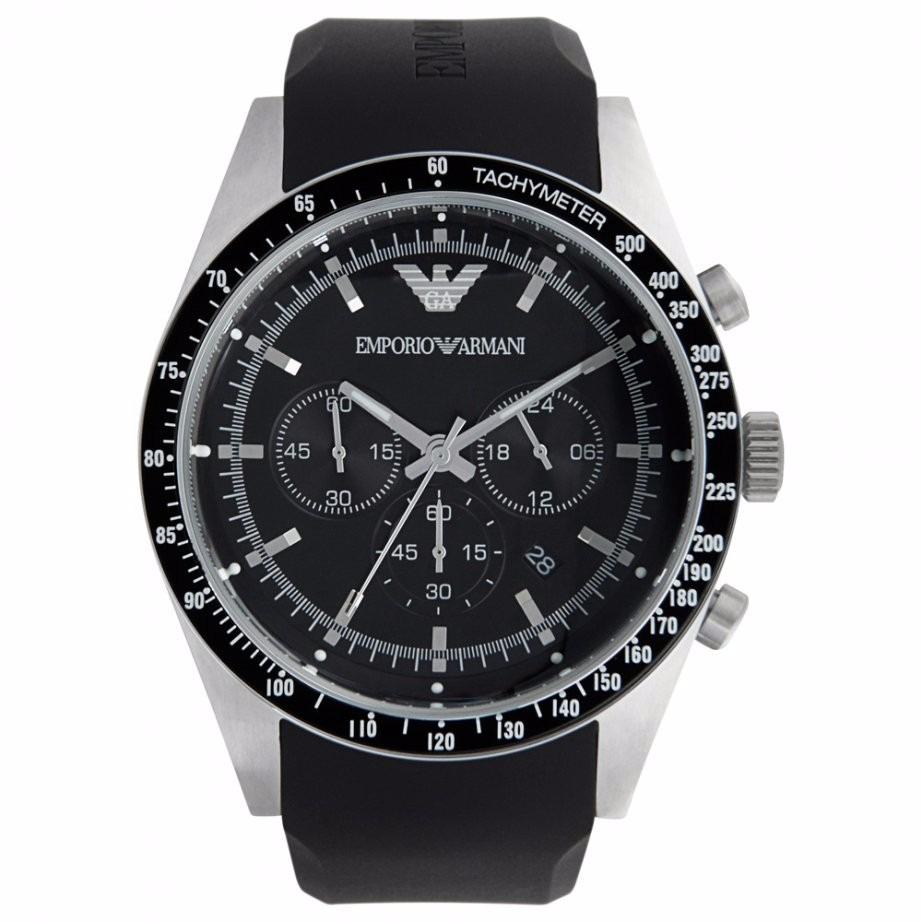 8d16eb3dee5 Relógio Emporio Armani Ar5985 Preto E Prata Na Caixa Em 12x. - R ...