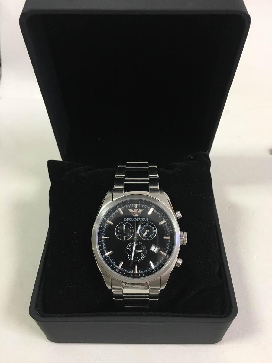 0997b628727 relógio emporio armani ar6050 aço+ caixa simples e garantia. Carregando  zoom.