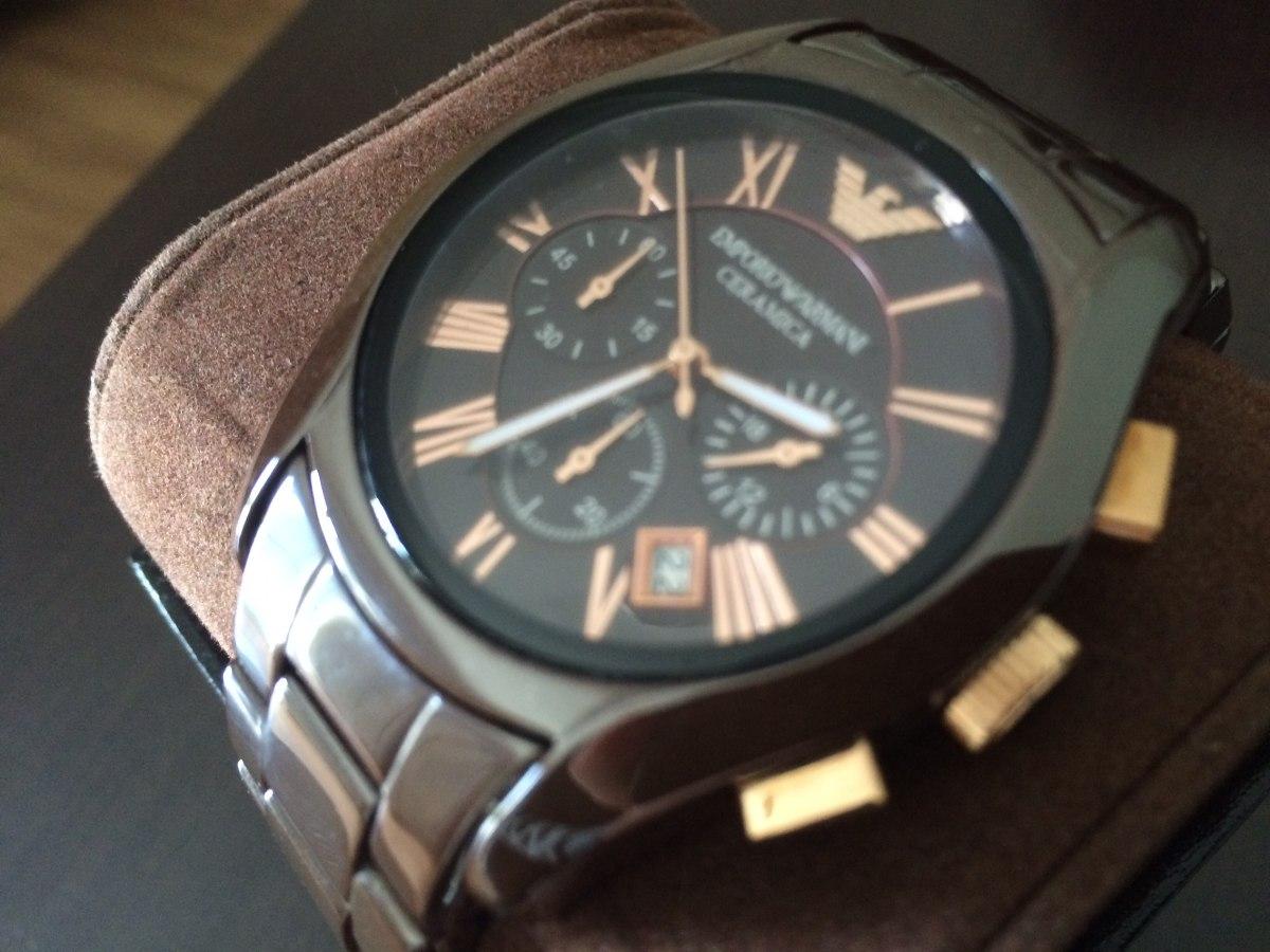2c4149a37 relógio emporio armani cerâmica chrono importado original. Carregando zoom.