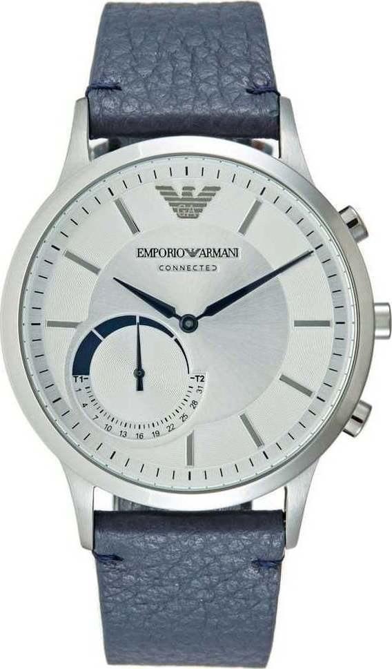 08836d43401 relógio emporio armani connected art3003 smartwatch blue. Carregando zoom.