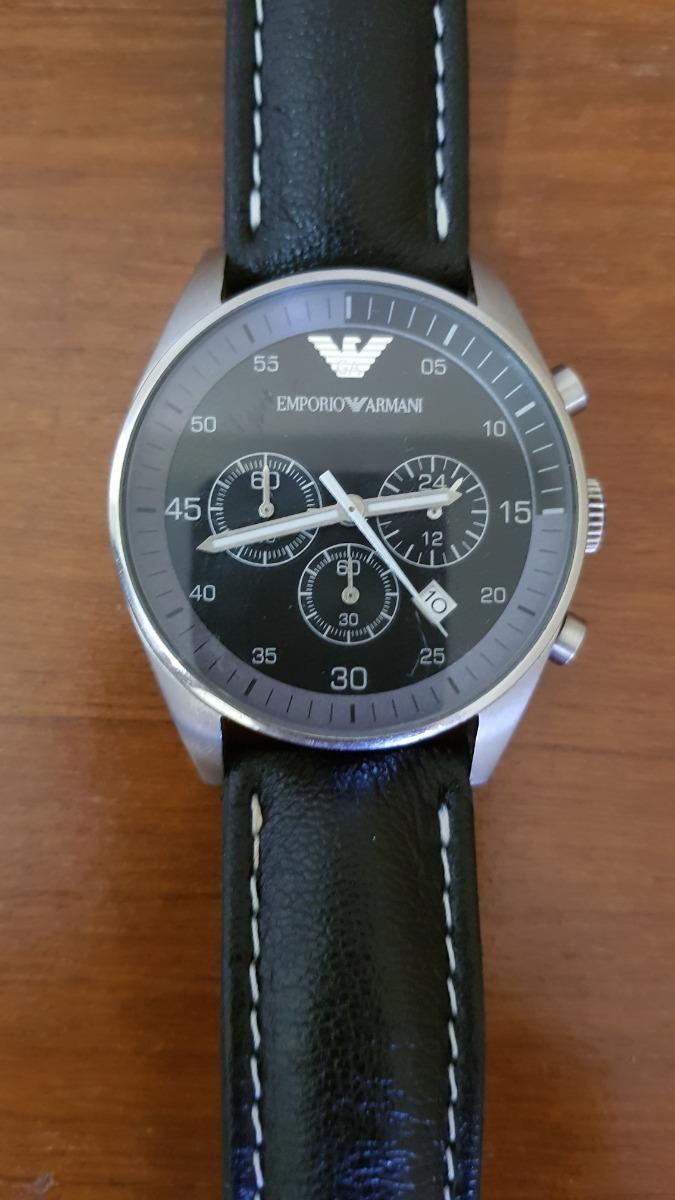 0b34a358b76 relogio emporio armani original ar-5866 - pulseira de couro. Carregando  zoom.