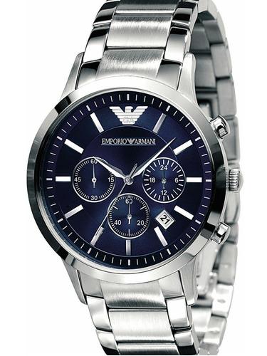 relógio emporio armani original azul ar2448 ar 2448