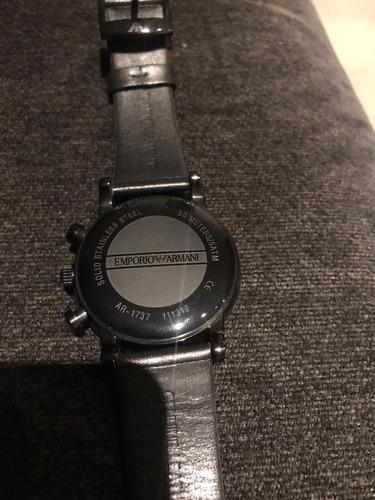 relogio emporio armani - original - pulseira de couro