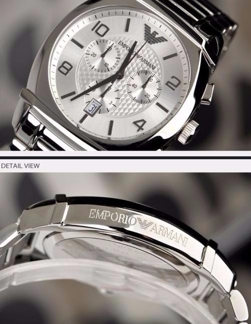 3d2111ed79e Relógio Emporio Armani Prata Ar 0350 Original Na Caixa - R  499