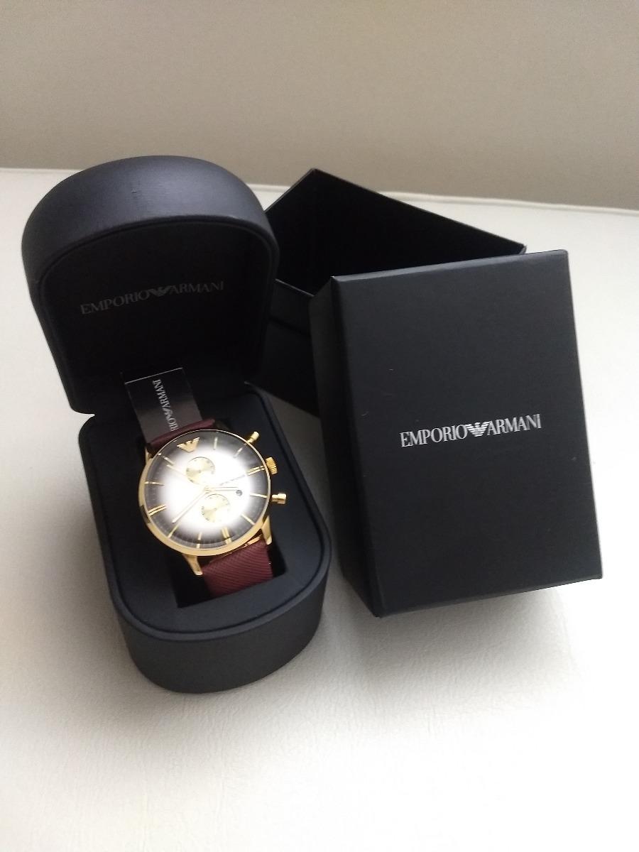 ec3ac4c87e6 relógio empório armani - pulseira em couro. Carregando zoom.