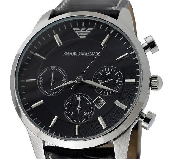 36e8580b575 Relógio Emporio Armani - Pulseira Em Couro - Pronta Entrega - R  39 ...