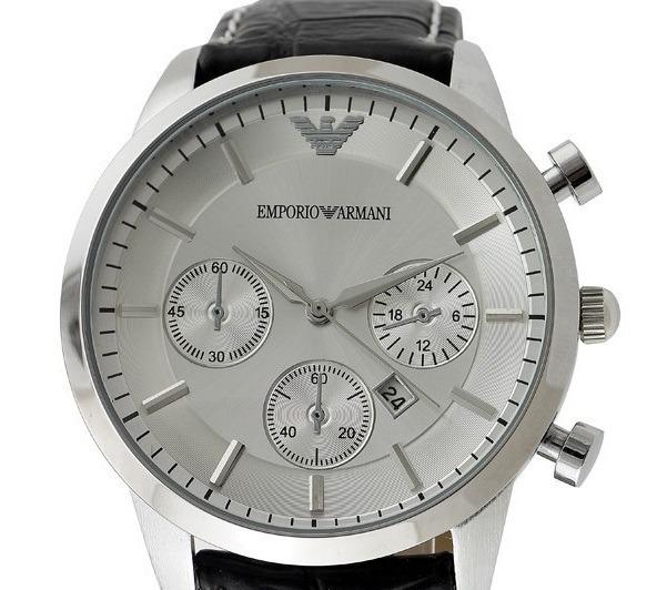 16bec06e32923 Relógio Emporio Armani - Pulseira Em Couro - Pronta Entrega - R  39 ...