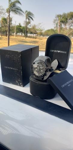 relógio emporio armany orologi original com caixa e manual.