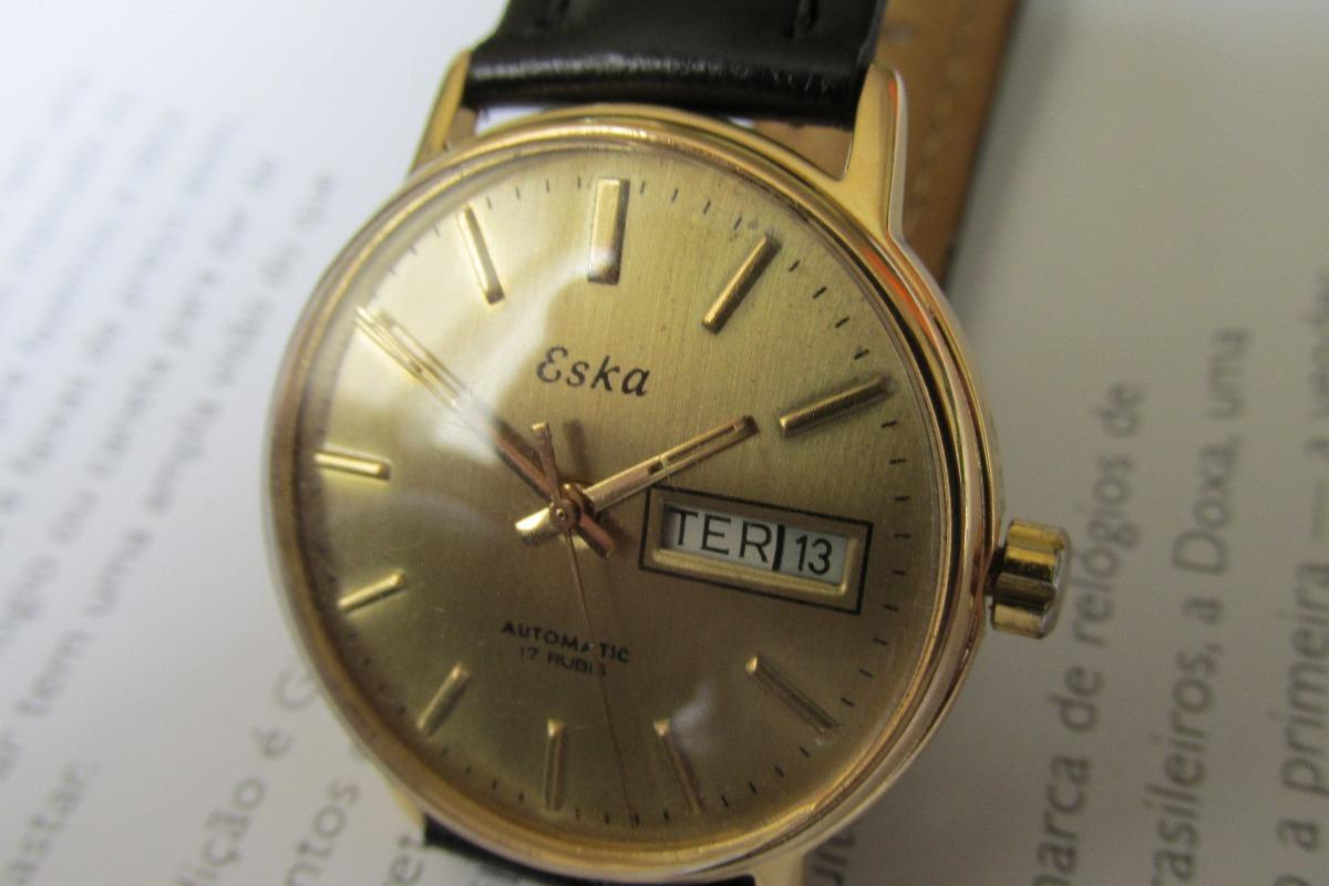 082f12c9334 relógio eska automático day-date perfeito. Carregando zoom.