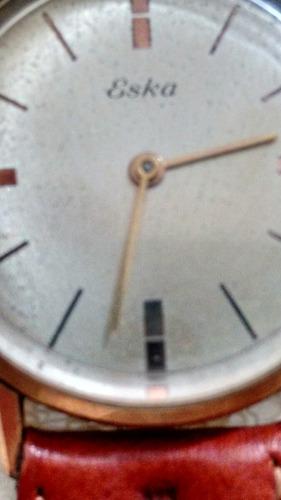 relógio eska, folheado 18kts