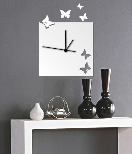 relógio espelhado decorativo em acrílico
