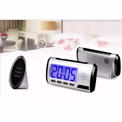 relógio espiao de mesa com sensor de movimentos foto e filma