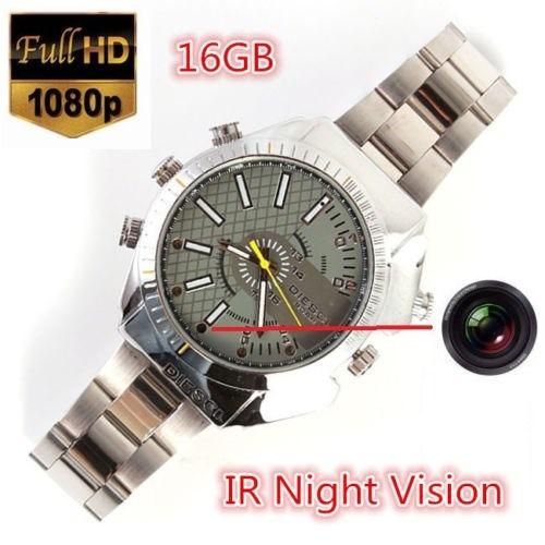 3d986cf0c35 Relógio Espião Hd16gb Video Visão Noturna 1080p Frete Grátis - R ...