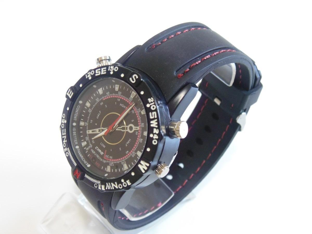 86522f9eb59 relógio espião micro camera 8gb filma fotos audio provadagua. Carregando  zoom.