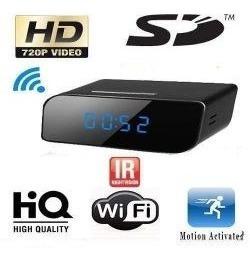 relógio espião wi-fi com câmera ip acesso no celular ou pc