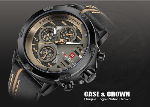 relógio esporte masculino original naviforce 9110 by bn