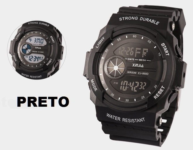 c0b198d1ef4 Relógio Esportes Militar Xinjia Xj-868d - R  84