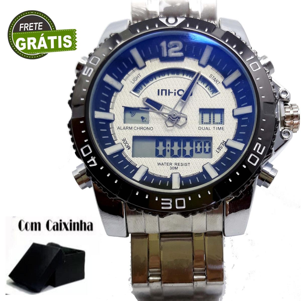 4abe0124a39 Relógio Esportivo Analógico E Digital + Caixinha + Frete - R  120
