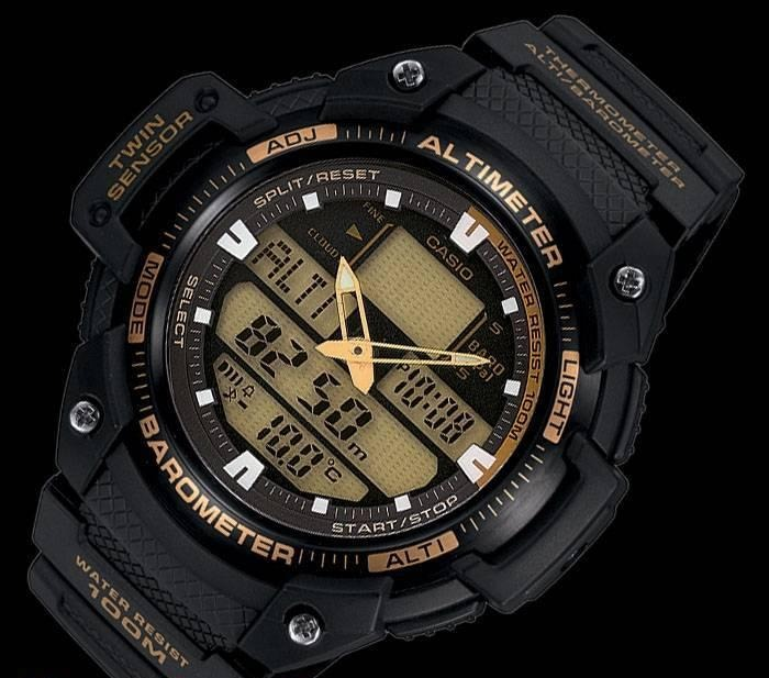 2b8fa0030ab Relogio Esportivo Casio Sgw 400 Outgear Sgw400 Altimetro - R  449