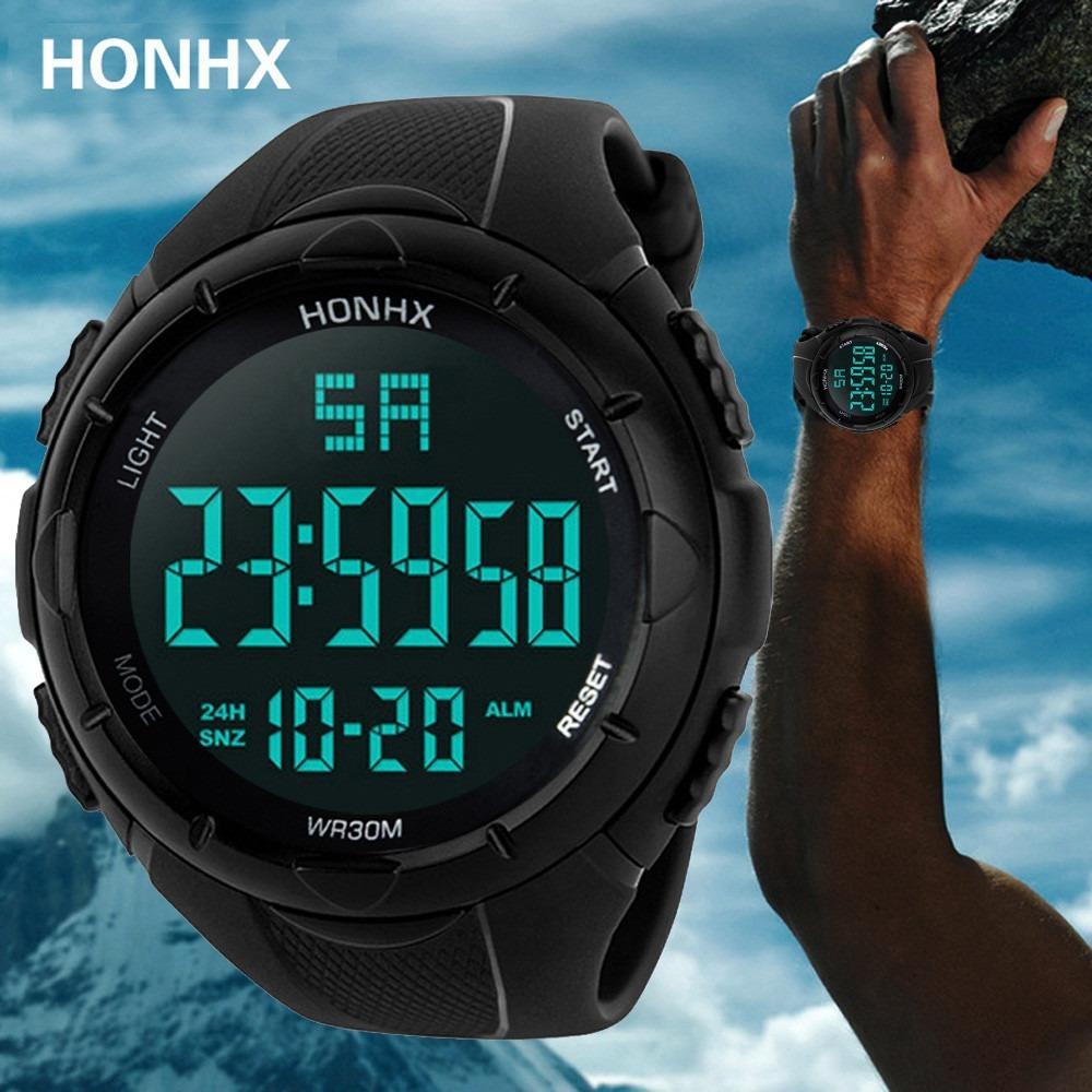 d6daefb42e7 relógio esportivo de luxo homens analógico digital led. Carregando zoom.