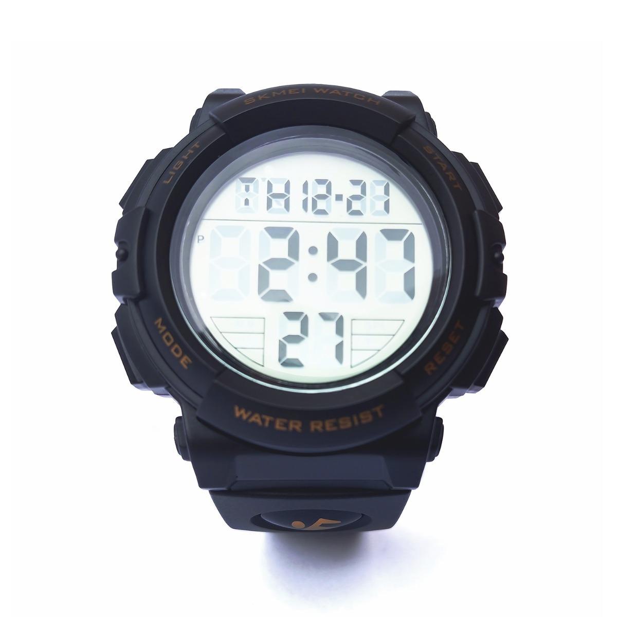 b7e2cfb4133 relógio esportivo digital skmei 1258 amarelo a prova d água. Carregando  zoom.