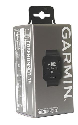 relógio esportivo garmin forerunner 35 corrida gps preto