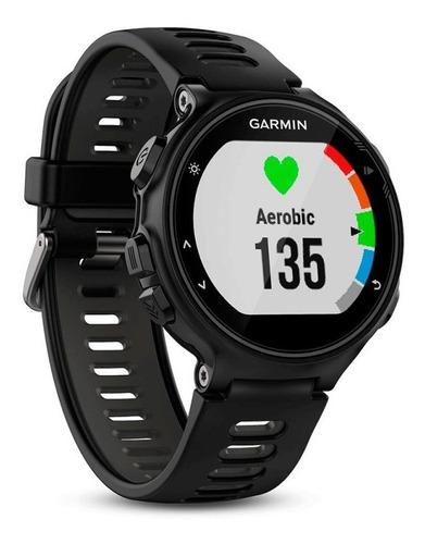 relógio esportivo garmin forerunner 735xt preto e cinza co