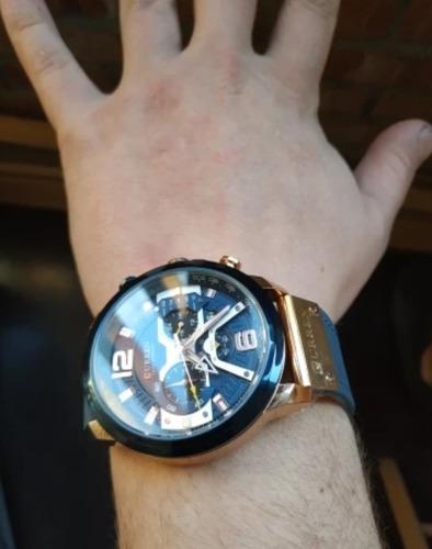 relógio esportivo luxo curren original funcional 12x