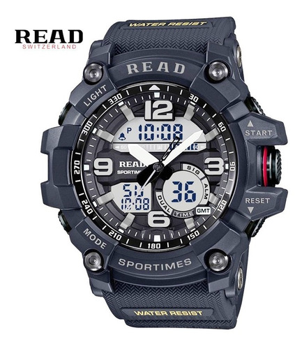 relógio esportivo masculino digital com luz led original top